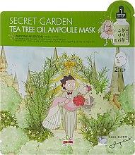 Kup Dwustopniowa ampułkowa maseczka nawilżająca w płachcie z olejkiem z drzewa herbacianego - Sally's Box Secret Garden Tea Tree Oil Ampoule Mask