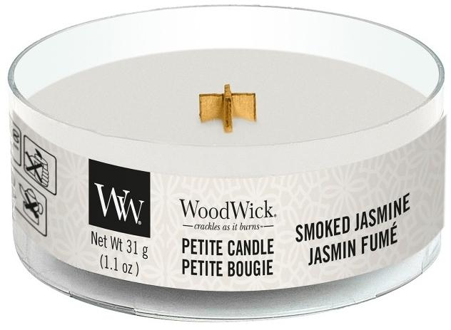 Świeca zapachowa w szkle - Woodwick Petite Candle Smoked Jasmine — фото N1