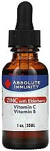 Kup Suplement diety w płynie Cynk, czarny bez, witamina C i B - Absolute Nutrition Immunity Zinc With Elderberry Vitamin C & Vitamin B
