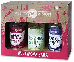 Kup PRZECENA! Zestaw do pielęgnacji twarzy - Purity Vision Bio (rose/water 100 ml + camomile/water 100 ml + lavender/water 100 ml) *