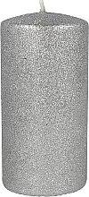 Kup Świeca dekoracyjna perłowa, 7 x 10 cm, srebrna - Artman Glamour