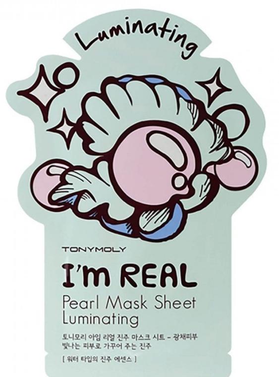 Maska na tkaninie do twarzy - Tony Moly I'm Real Peral Luminating Sheet Mask — фото N1