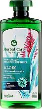 Nawilżający szampon rodzinny Aloes z proteinami pszenicy - Farmona Herbal Care — фото N1