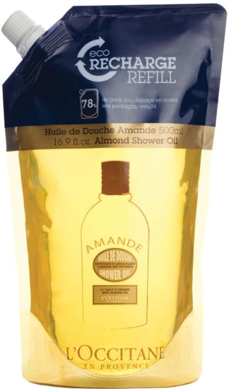 Nawilżający olejek do mycia ciała (uzupełnienie) - L'Occitane Almond Shower Oil — фото N1