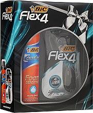 Kup Zestaw - Bic Flex 4 Comfort (razor/3szt. + foam/250ml)
