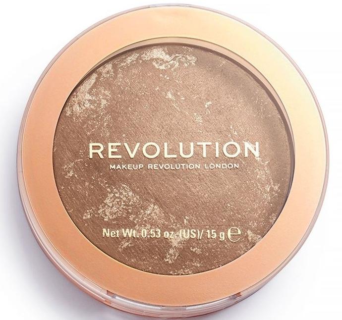 Rozświetlający wypiekany bronzer do twarzy - Makeup Revolution Reloaded Powder Bronzer — фото N2