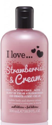 Krem do kąpieli i pod prysznic Truskawki i śmietanka - I Love... Strawberries & Cream Bubble Bath And Shower Crème — фото N1