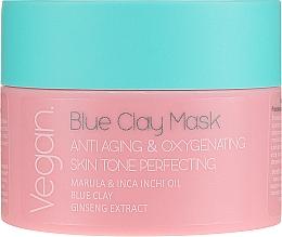 Kup Przeciwstarzeniowa maska tlenowa z glinką niebieską do twarzy upiększająca koloryt skóry - Nacomi Blue Clay Mask Anti-Aging