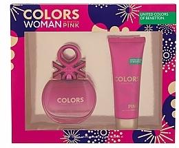 Kup Benetton Colors Pink - Zestaw (edt 80 ml + b/lot 75 ml)