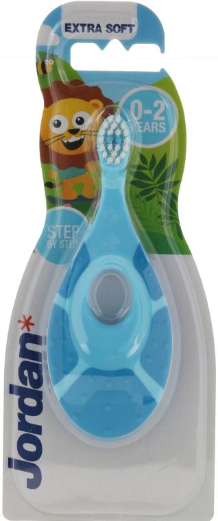 Ekstramiękka szczoteczka do zębów dla dzieci 0–2 lata, niebieska - Jordan Step By Step