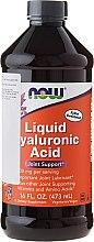 Kwas hialuronowy na prawidłową pracę stawów - Now Foods Liquid Hyaluronic Acid — фото N1