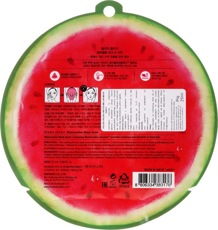 Nawilżająca maska na tkaninie do twarzy Arbuz - Holika Holika Watermelon Mask Sheet — фото N2