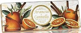 Kup Zestaw naturalnych mydeł w kostce Pomarańcza i cynamon - Saponificio Artigianale Fiorentino Orange & Cinnamon