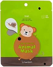 Kup Maseczka do twarzy w płachcie ze śluzem ślimaka - Berrisom Animal Mask Snail Series Monkey