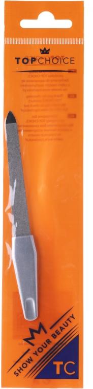 Pilnik szafirowy do paznokci, 12.5 cm, 7200, srebrny - Top Choice — фото N1