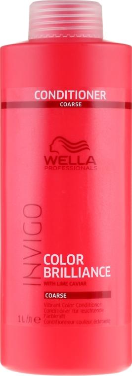 Odżywka wzmacniająca kolor grubych włosów farbowanych - Wella Professionals Invigo Colour Brilliance Coarse Conditioner — фото N3