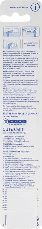 Jednopęczkowa szczoteczka do zębów Single CS 1009, pomarańczowa - Curaprox — фото N2