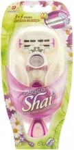 Kup Maszynka do golenia z dwoma wymiennymi wkładami - Dorco Shai 3+3