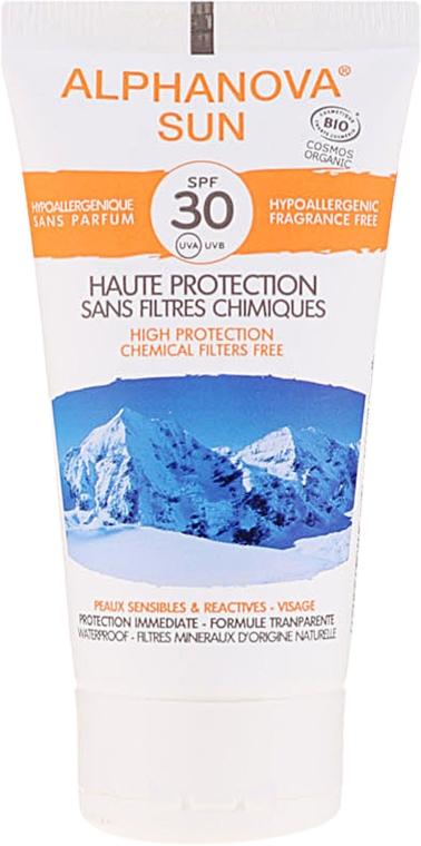 Hipoalergiczny krem przeciwsłoneczny do skóry suchej i wrażliwej SPF 30 - Alphanova Sun SPF 30 Sans Parfum Bio — фото N2