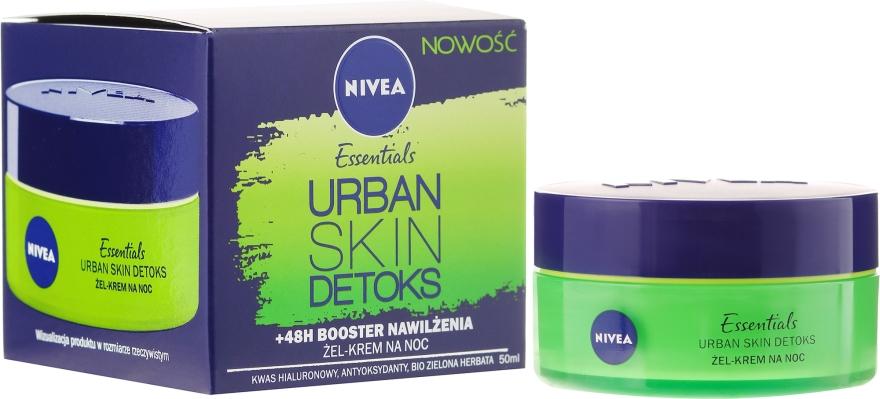 Żel-krem do twarzy na noc Booster nawilżenia +48h - Nivea Essentials Urban Skin Detox Night Cream
