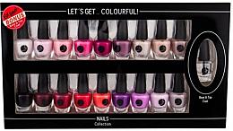Kup Zestaw lakierów do paznokci - Cosmetic 2K Let'S Get Colourful! (19 x nail/laq 3,5 ml)