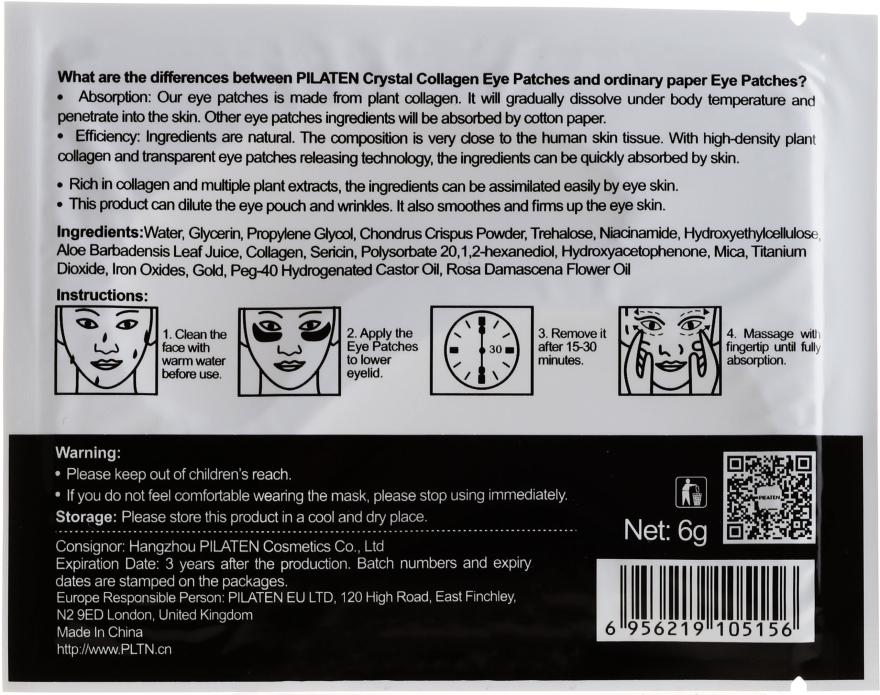 Maska-plastry pod oczy z kolagenem - Pilaten Crystal Collagen Gold Eye Mask — фото N2