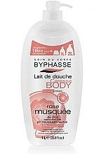 Mleczko pod prysznic Róża - Byphasse Caresse Shower Cream — фото N2