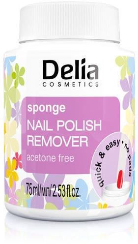 Bezacetonowy zmywacz do paznokci w gąbce - Delia Sponge Nail Polish Remover Acetone Free