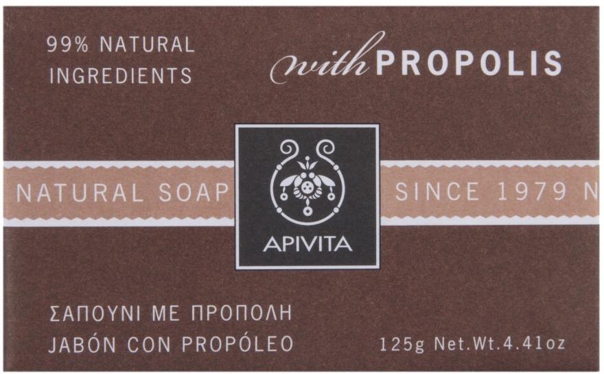 Naturalne mydło w kostce Propolis - Apivita Natural Soap with Propolis — фото N1