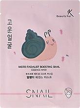 Kup Maska na tkaninie do twarzy ze śluzem ślimaka - Beauty Kei Micro Facialist Boosting Snail Essence Mask