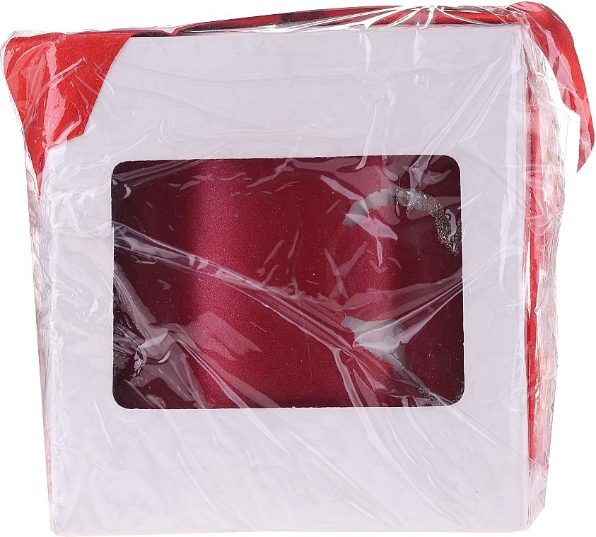 PRZECENA! Czerwona świeca dekoracyjna, 8 x 9,5 cm - Artman Forever Glass * — фото N2
