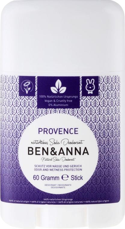 Dezodorant w sztyfcie na bazie sody Prowansja - Ben & Anna Natural Soda Deodorant Provence — фото N1