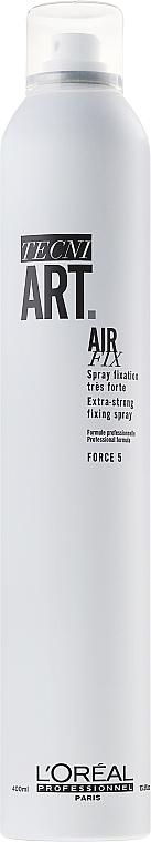 Spray błyskawicznie utrwalający włosy - L'Oreal Professionnel Tecni.art Air Fix Force 5