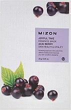 Kup Witalizująca maska na tkaninie z ekstraktem z jagód acai - Mizon Joyful Time Essence Mask Acai Berry