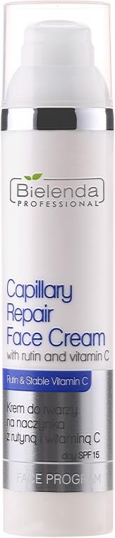 Krem do twarzy na naczynka z rutyną i witaminą C - Bielenda Professional Capilary Repair Face Cream