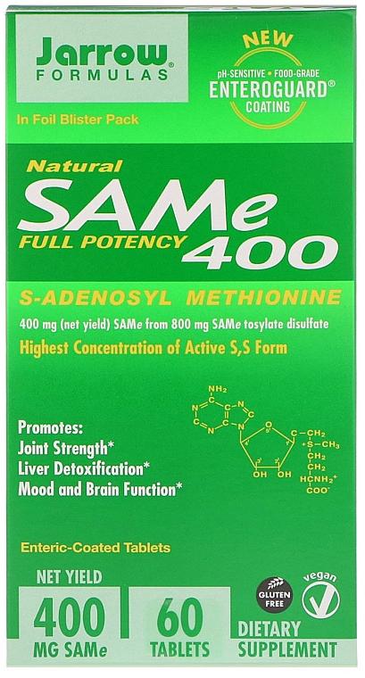 Suplement diety S-adenozylometionina w tabletkach - Jarrow Formulas SAM-e 400 (S-Adenosyl-L-Methionine) 400 mg — фото N1
