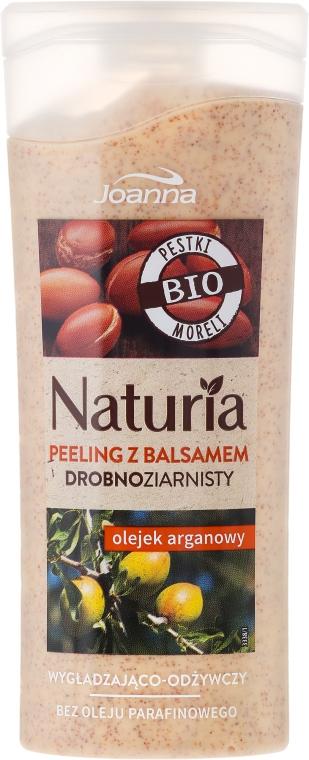Wygładzająco-odżywczy peeling drobnoziarnisty z balsamem z olejem arganowym - Joanna Naturia
