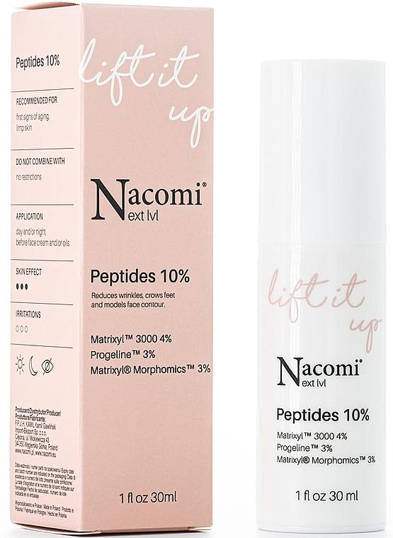 Serum do twarzy z peptydami 10% - Nacomi Next Level Lift It Up Peptides 10% — фото N1