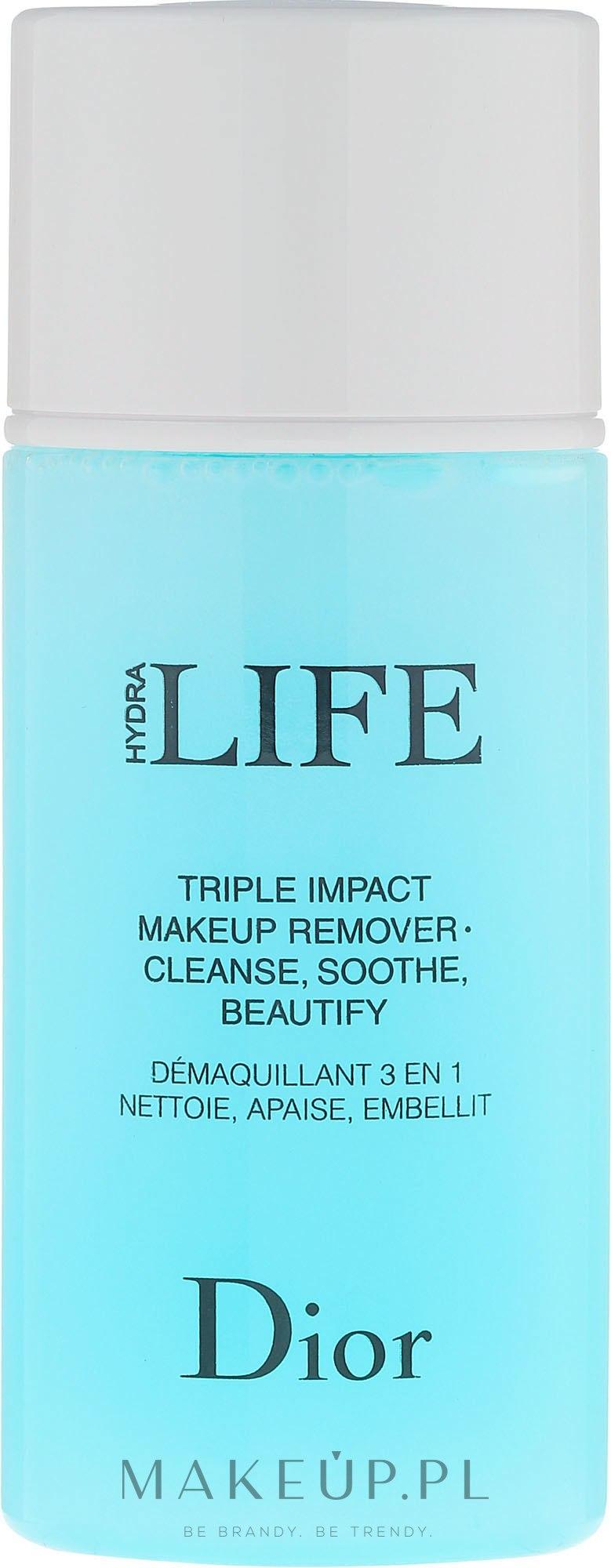 Płyn 3 w 1 do demakijażu - Dior Hydra Life Triple Impact Makeup Remover — фото 125 ml