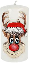 Kup Świeca dekoracyjna Rudolf, biała, 7 x 18 cm - Artman Christmas Candle Rudolf