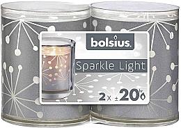 Kup Zestaw świec - Bolsius Sparkle Lights Crystal Silver Candle
