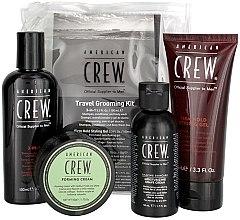 Kup Zestaw dla mężczyzn - American Crew Travel Grooming Kit (gel 100 ml + cr 50 g + sh/gel 100 ml+ sh/cr 50 ml)