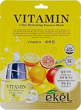 Kup Witaminowa maska na tkaninie do twarzy - Ekel Vitamin Ultra Hydrating Mask