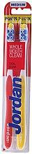 Kup Szczoteczki do zębów, średnia twardość, żółta + czerwona - Jordan Total Clean Medium