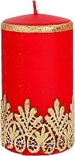Kup Świeca ozdobna koronkowa, czerwona, 7x14 cm - Artman Lace Christmas