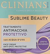 Kup Ochronny krem wyrównujący koloryt skóry - Clinians Sublime Beauty Antimacchia Protettivo Face Cream