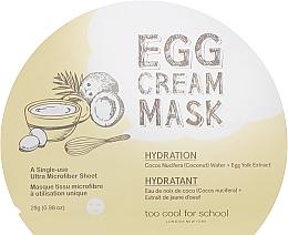 Kup Nawilżająca maseczka w płachcie do twarzy Woda kokosowa i żółtko jajka - Too Cool For School Egg Cream Mask Hydration