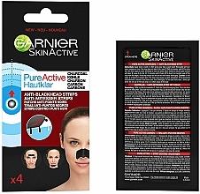 Kup Plastry oczyszczające na nos z węglem - Garnier Skin Active Pure Active Anti-Blackhead Charcoal Strips