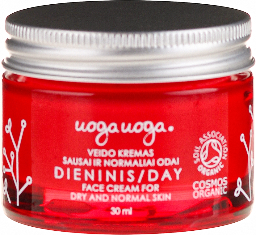 Krem do twarzy na dzień z ekstraktem z żurawiny i kwasem hialuronowym - Uoga Uoga Day Face Cream — фото N2