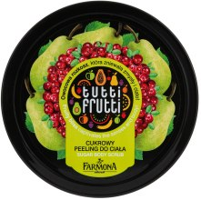 Kup Cukrowy peeling do ciała Gruszka i żurawina - Farmona Tutti Frutti